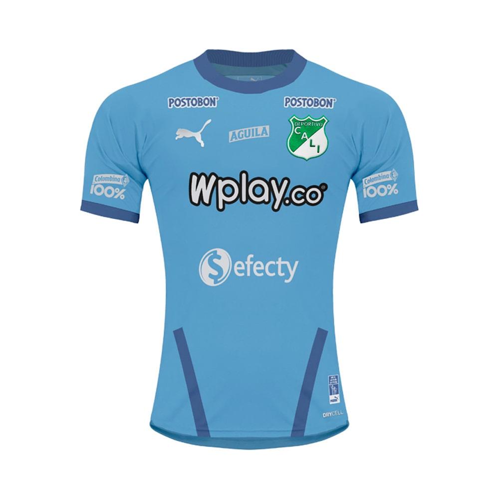 Faby Sport Camiseta Puma Deportivo Cali Oficial Arquero Celeste 2020